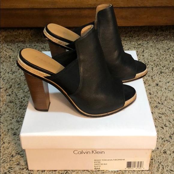 a5a4d17aa873 Calvin Klein Shoes - LIKE NEW Calvin Klein Peggy Block Heel Mules
